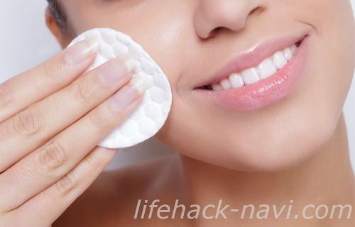 炭酸水 洗顔方法 コットン
