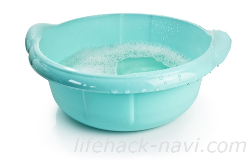 炭酸水 洗顔方法 洗面器