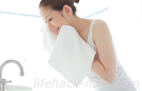 水洗顔 正しい洗顔 タオル