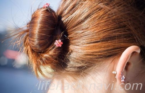 首 ニキビ 治し方 髪を結ぶ