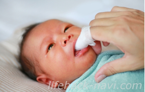赤ちゃん 歯磨き ガーゼ